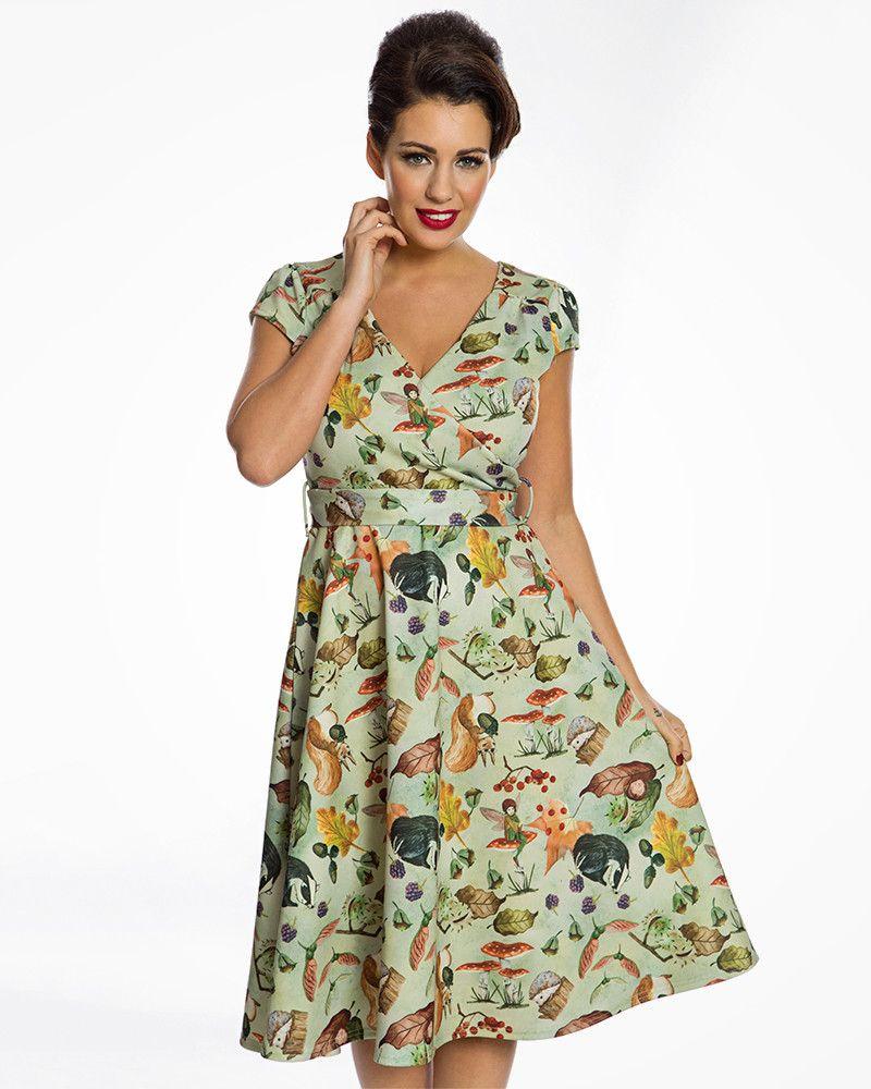 19935596677 Dawn  Woodland Fairy Print Swing Dress in 2019