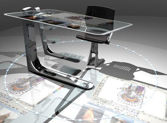 futuristic desk - Google Search