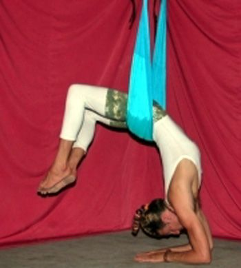how to overcome gravity with the aerial yoga swing  yoga