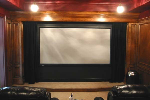 Home Theater Projector Screens Wooden Wall Attic Renovation