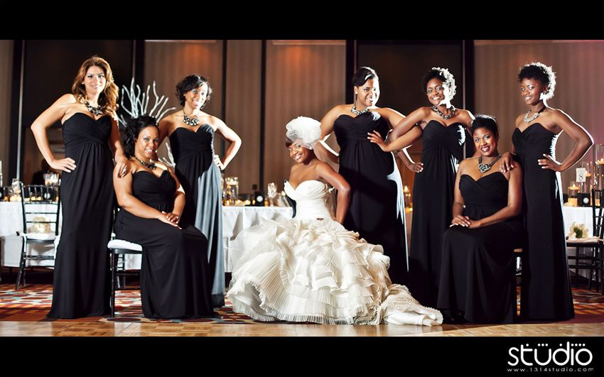 Black People Wedding Party