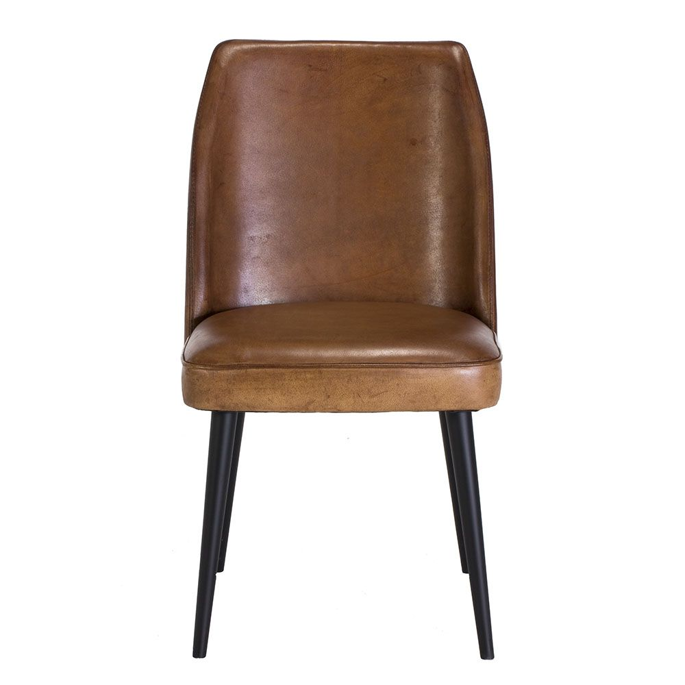 Gaia Vintage Leather Dining Chair Brown Available Online At