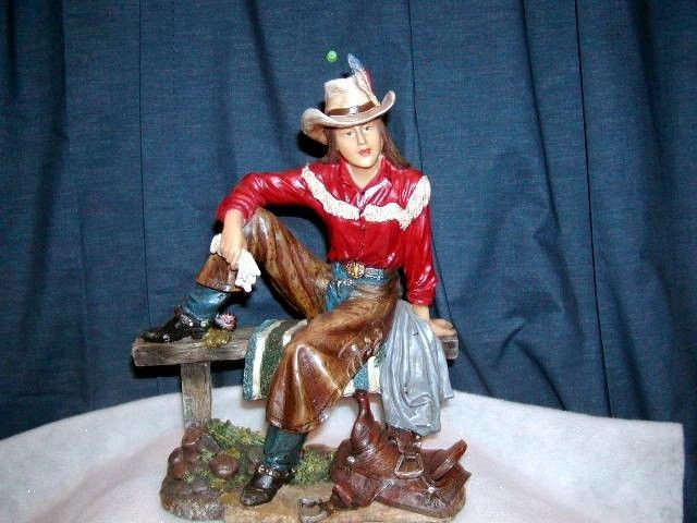 FIGURINE WESTERN COWGIRL STATUE NEW FIGURINE COUNTRY http://stores.ebay.com/store4angels?refid=store come see our store front always have great sales