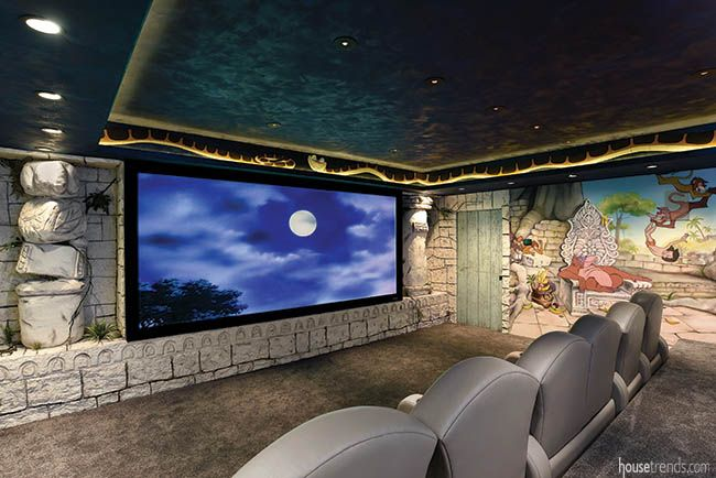 This Disney Themed Jungle Book Junglebook Home Theater Room System From Hanson Audio Visual Gets The Best Of Everything