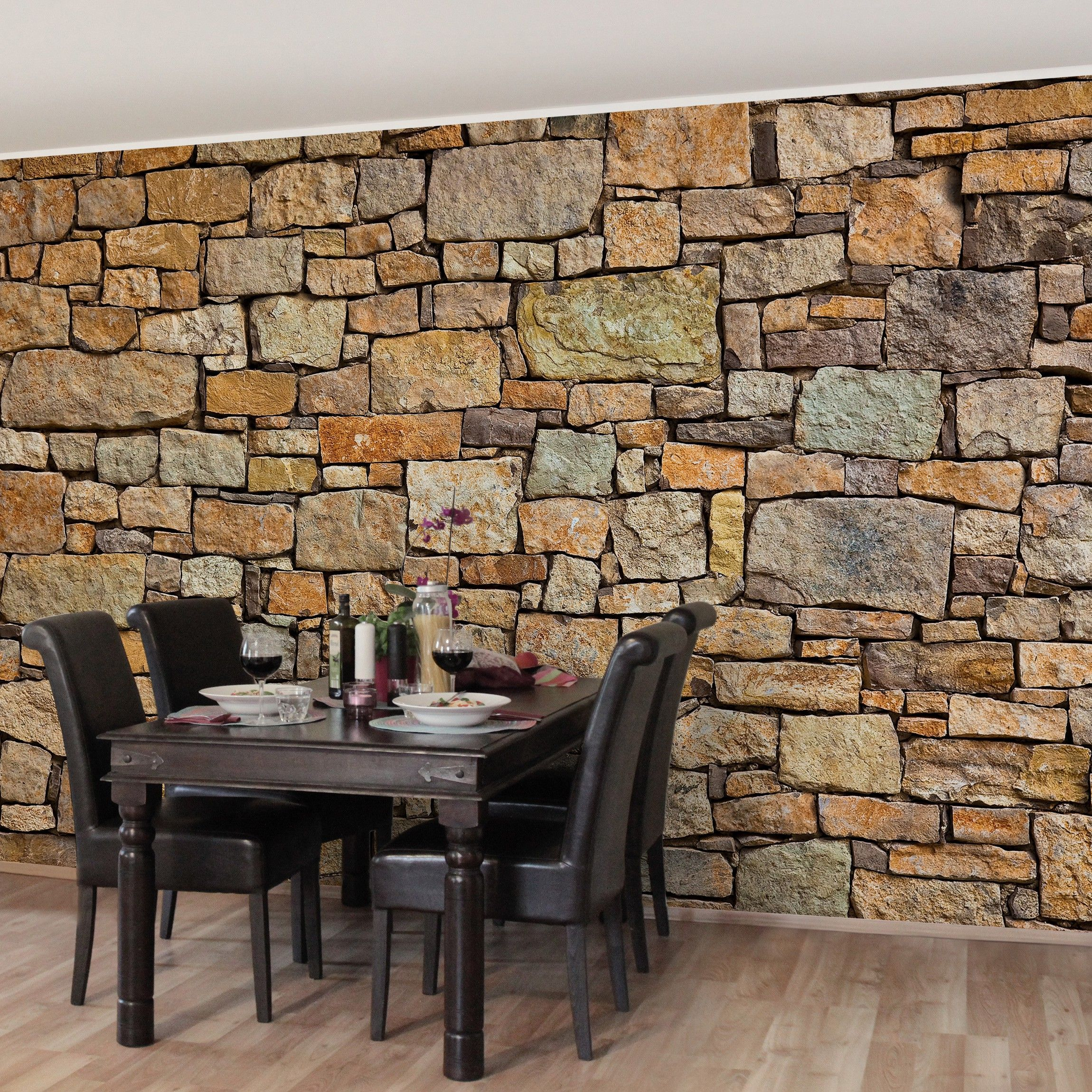 Tapeten Mediterran steintapete vliestapete premium croatia stonewall fototapete breit