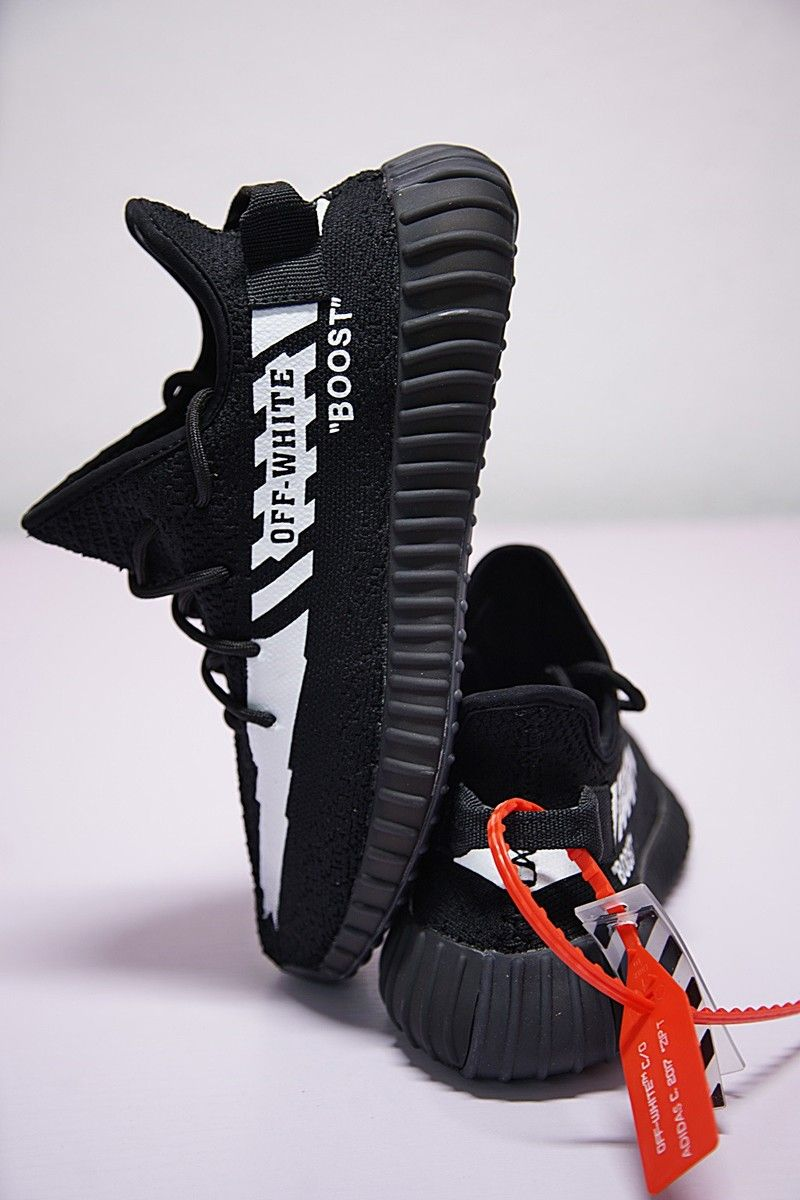 84f64758c9921 2018 Off-White x adidas Originals Yeezy Boost 350 V2 Black White For Sale –