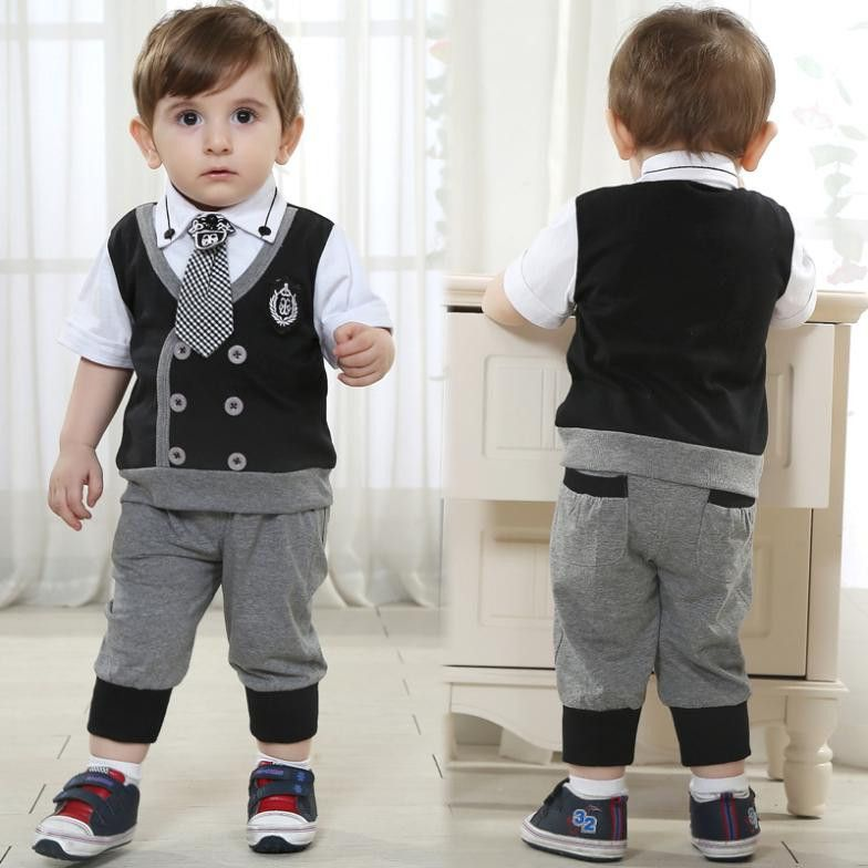 816e1e4d0268 Kids Brand Baby Boy Clothes Boys Formal Wedding Costume Children ...