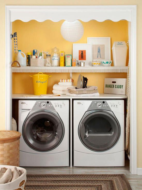 1 Make Four Piles The Great Closet Clean Out Is Your: Hidden Laundry Rooms, Small