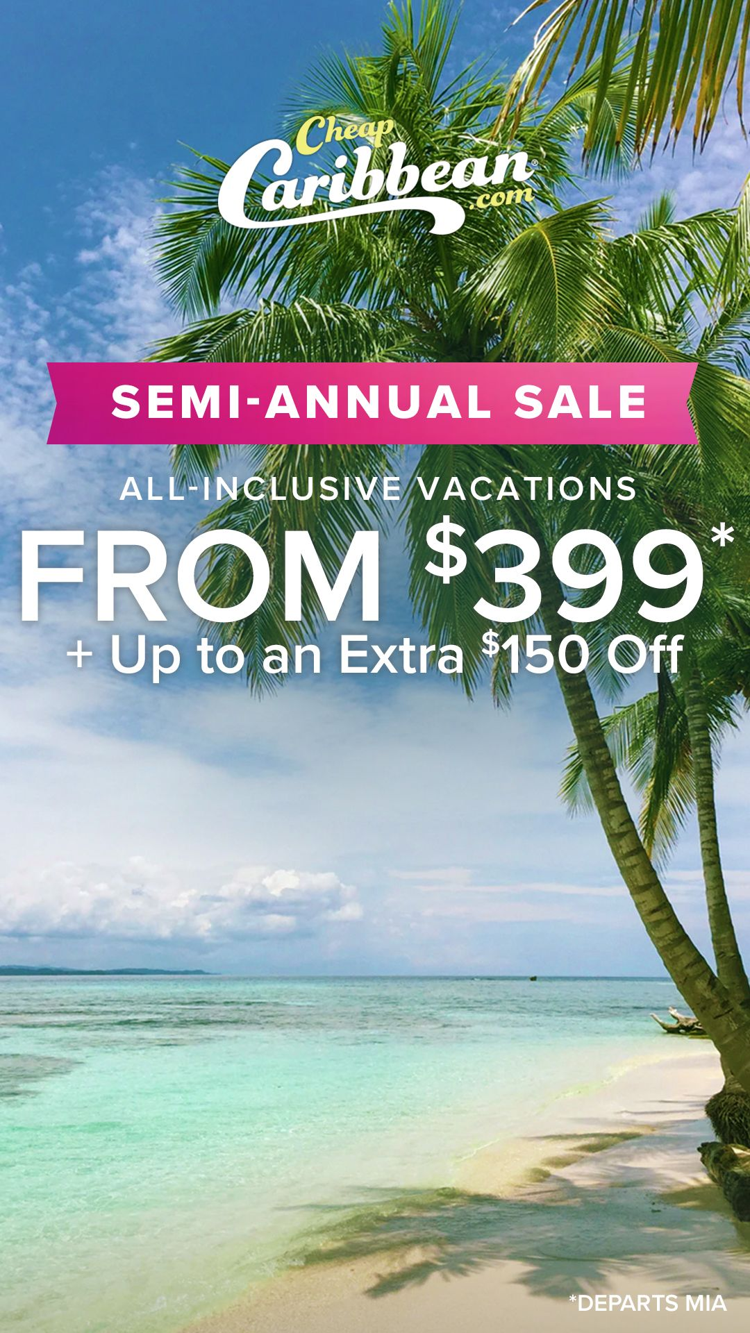 Book your next beach vacation from 399 PLUS Save on 6