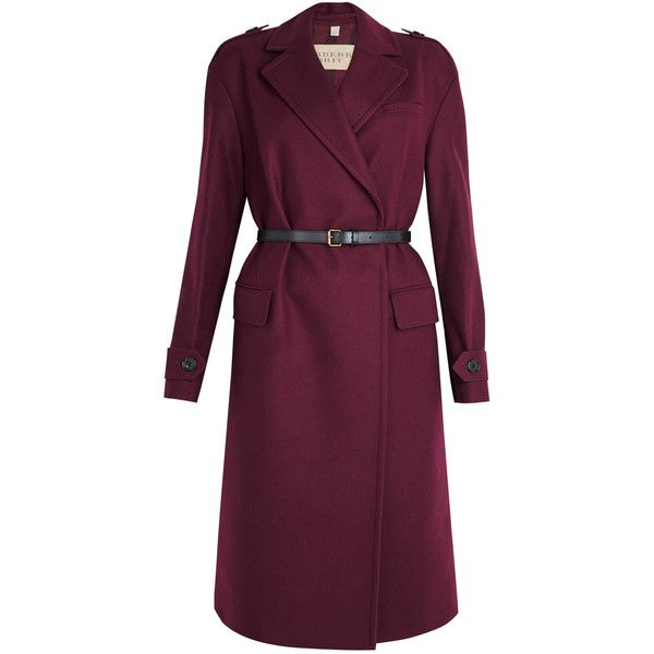 Burberry Brit Manningford Oversized Coat (36.576.565 VND) ❤ liked on Polyvore featuring outerwear, coats, burberry, dresses, jackets, burberry coat, oversized coat and purple coat