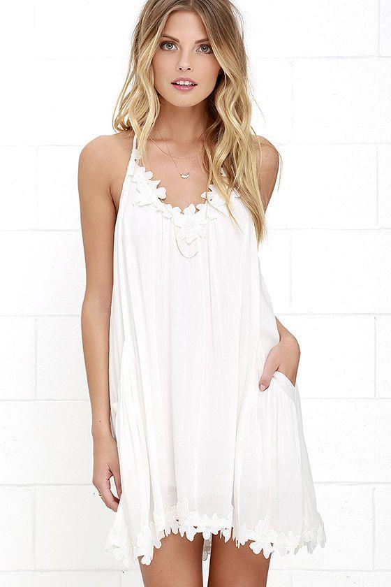 87a388829 Lily Love Ivory Shift Dress   ╳ FASHION.   White dresses for women ...
