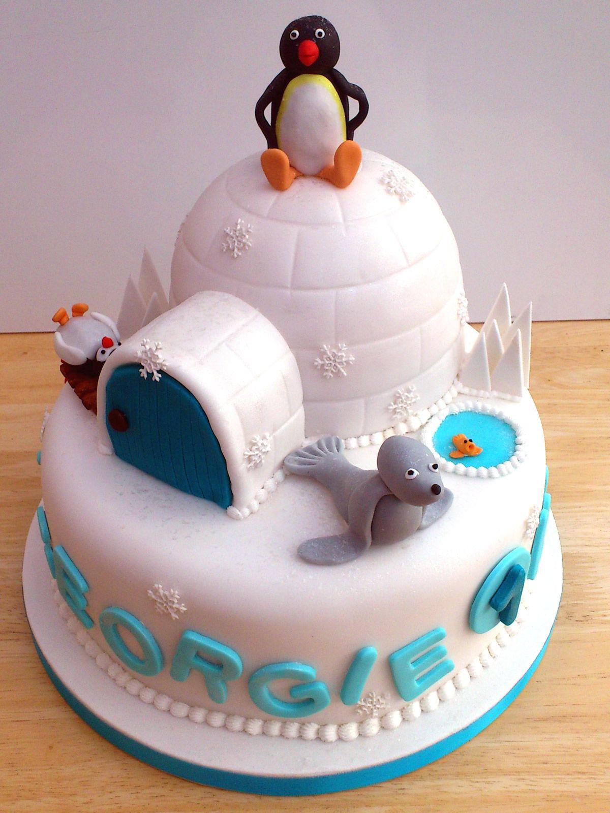 Pingu And Friends Novelty Birthday Cake