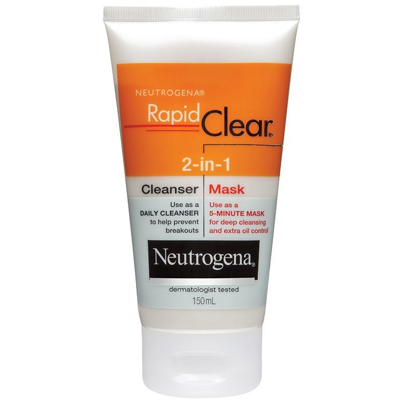 Neutrogena Rapid Clear 2 In 1 Cleanser Mask 150ml Chemist