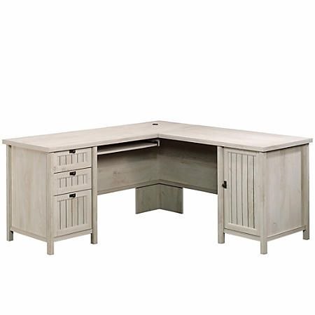 sauder costa l desk chalked chestnut item 8798052 in 2018 rh pinterest com