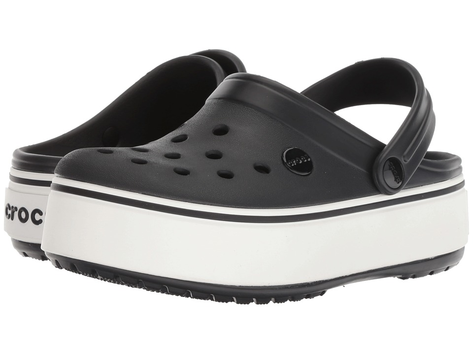 c17199c302f89 Crocs Crocband Platform Clog Women s Clog Shoes Black White in 2019 ...