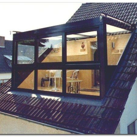 Großer Loft-Umbau. Dormer aus Glas. #dormer #umbau #bedroombalcony