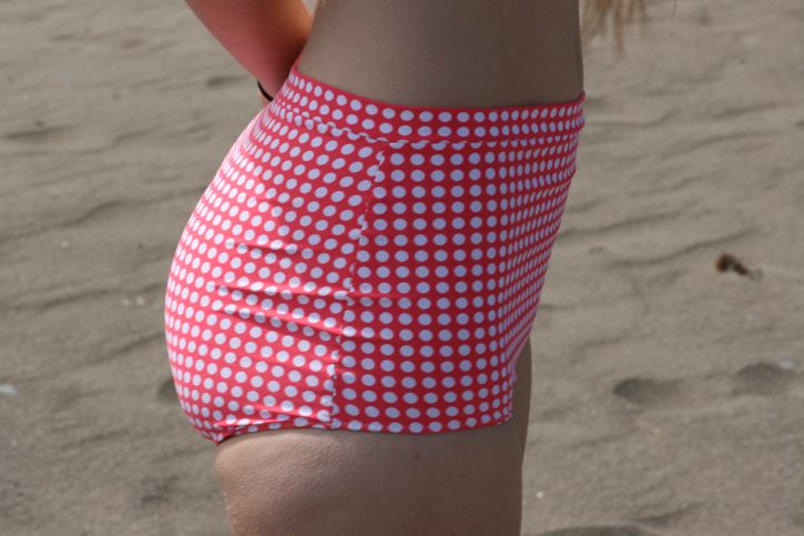 high waisted bikini bottoms,   she also has great tutorials on the rest of the swimsuit!