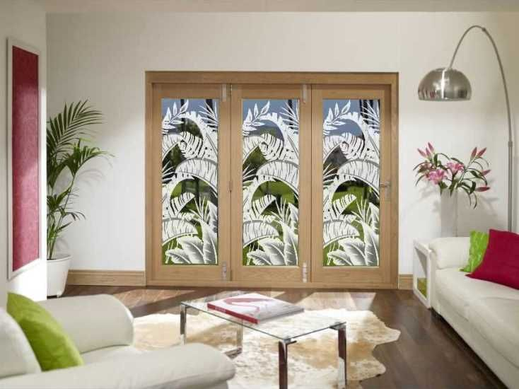 Bahama Breeze Sliding Glass Door Film. & Make a big statement at a low cost! Bahama Breeze Sliding Glass ...