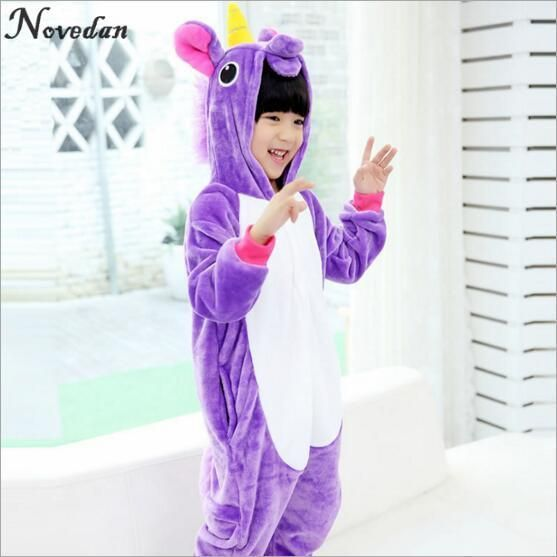 1ccd87c1f Child Kids Animal Onesie Unicorn Pajamas For Kids Halloween Cosplay ...