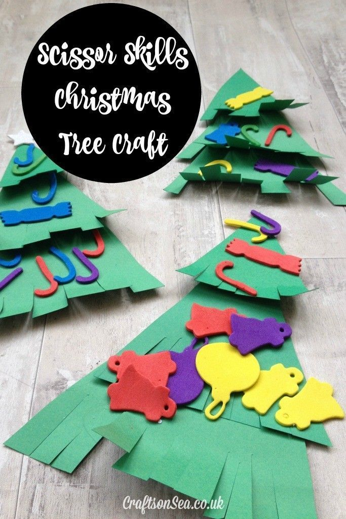Scissor Skills Christmas Tree Craft Scissor