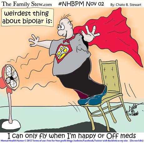 Weirdest thing about Bipolar is? #MHBPM