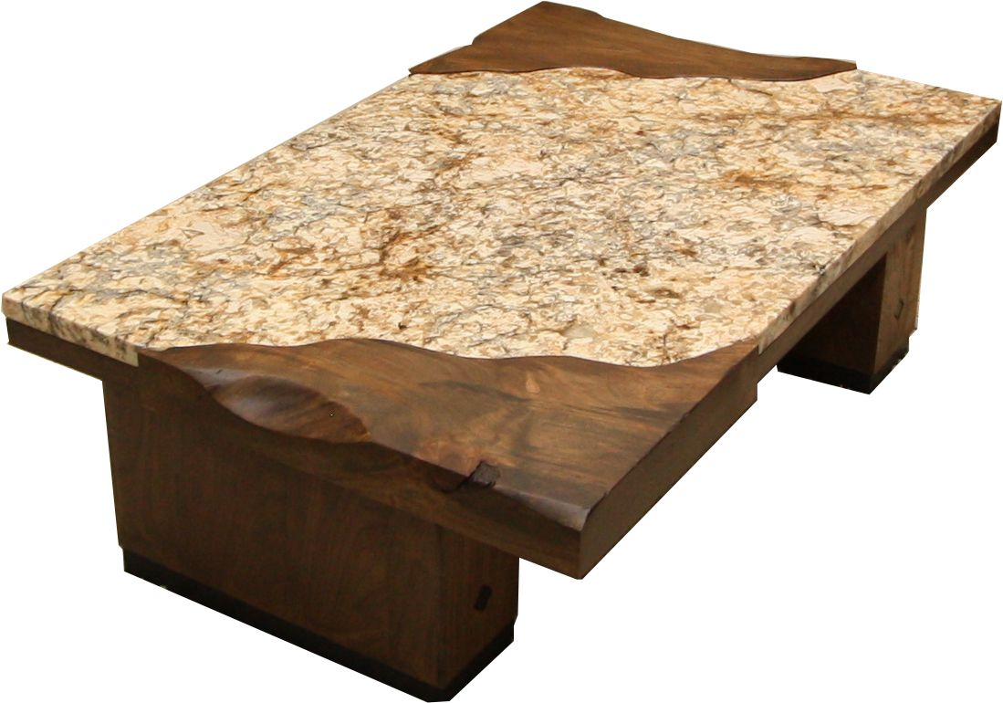 custom designed coffee table made from