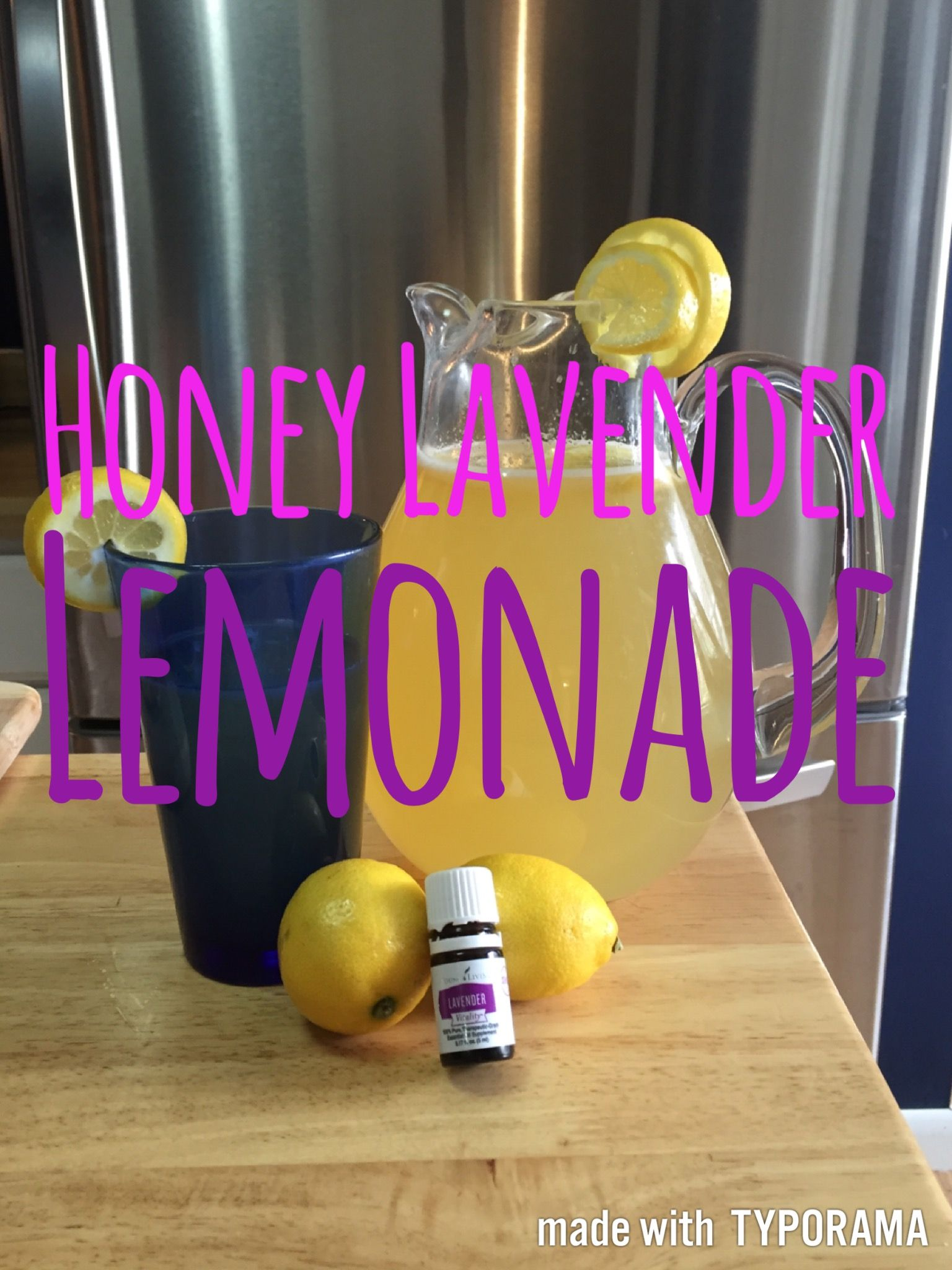 Honey Lavender Lemonade #easylemonaderecipe