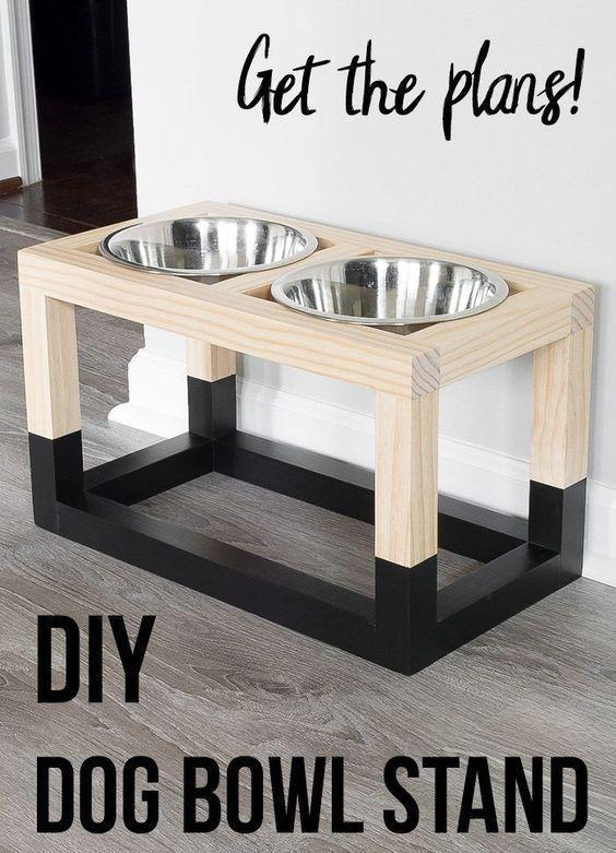Einfache und einfache DIY Hundeschüssel Grundrisse, die so