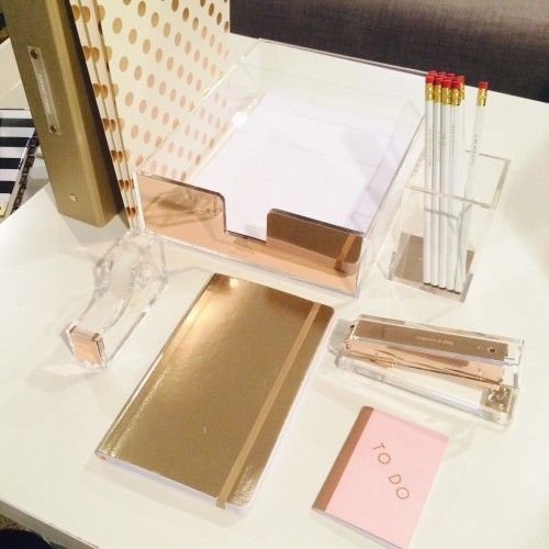 Favorite Posts The Gift Insider Gold Desk Accessories Glam