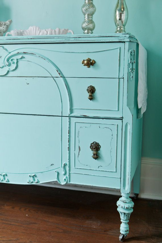 robin s egg blue painted dresser aqua and turquoise in 2019 rh pinterest com