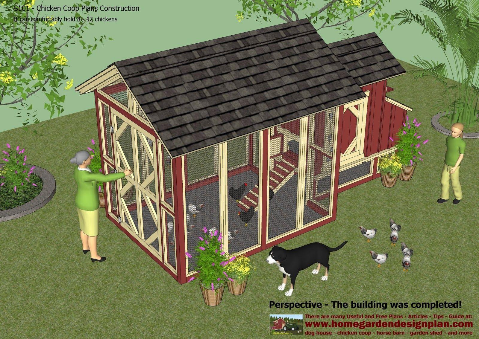 home garden plans s101 chicken coop plans construction chicken rh pinterest com