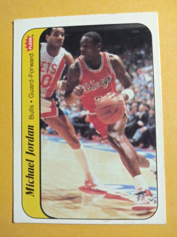 1986 fleer sticker michael jordan 8 rookie in 2020