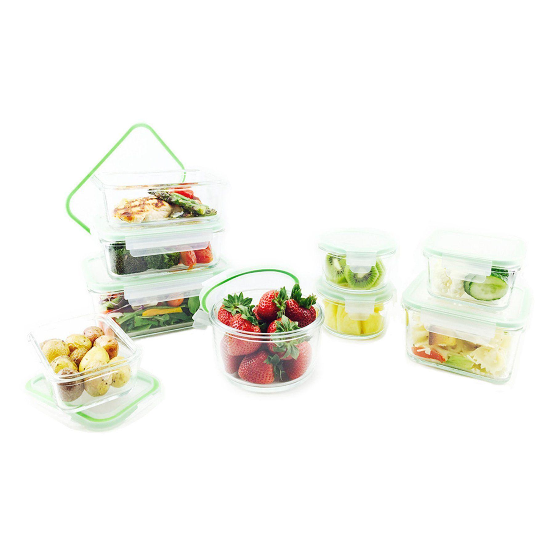 Kinetic Go Green Glassworks 18 Piece Oven Safe Glass Food Storage