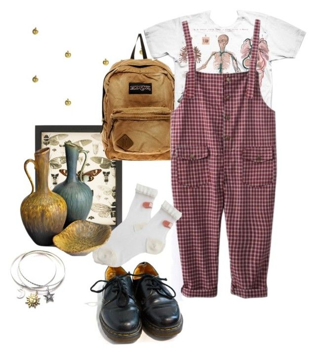 """""""Untitled #29"""" by shenzi-uni ❤ liked on Polyvore featuring Pier 1 Imports, JanSport and Dr. Martens"""