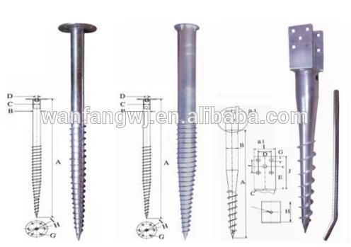 Ground Screw Pole Anchor Ground Screw Screw Post Anchor Buy