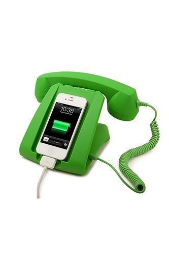 Amazing Green Talk Dock Charging Station And Handset