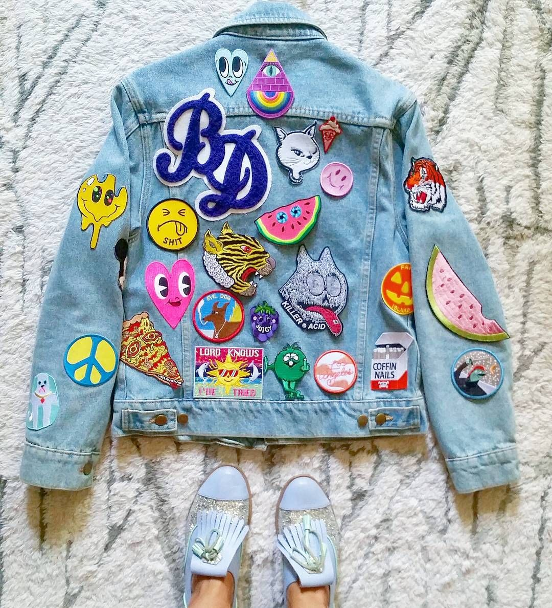Patch Jacket from  burieddiamond • Instagram   Patchy Love   Jackets ... 0a6c97de35