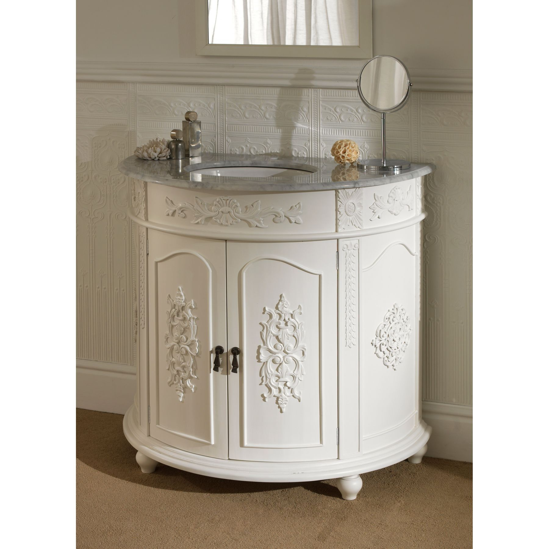 Nice Bathroom Vanity Units Matching Ranges 372la Rochelle Collection  1786circular Antique French Vanity 5997 3747 Zoom