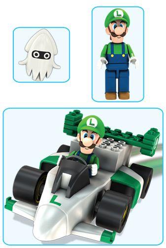 Wii Kart Motorized Mario Building Sets Luigi Sprinter K'nex Lc54AqS3Rj