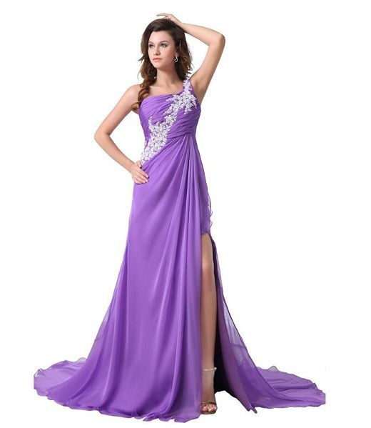elegant evening gowns in purple | ... cute plus size long formal ...