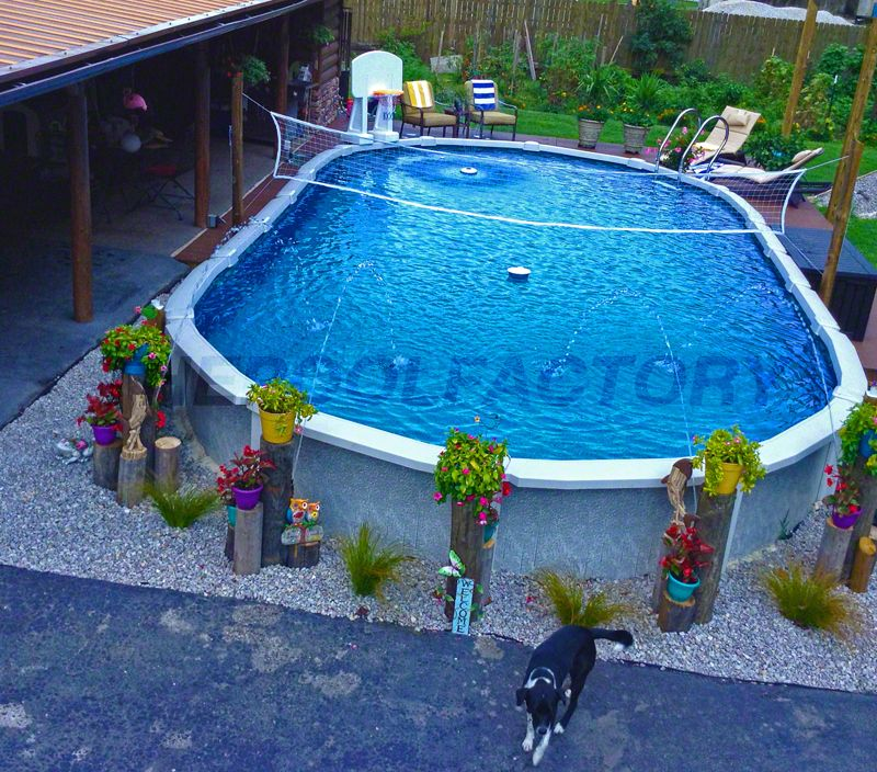 Swimming Pool Landscaping, How To Install An Above Ground Oval Pool