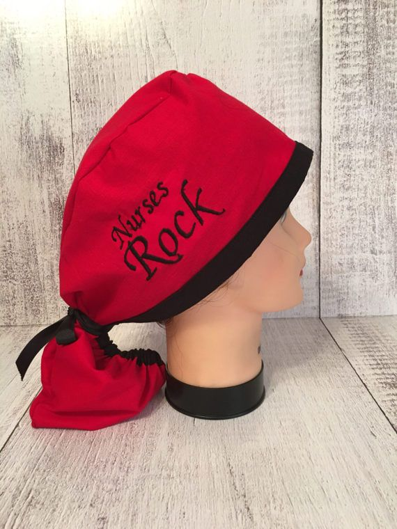 Scrub cap suitable for all medical purposes. This very cute scrub hat  features handmade embroidered