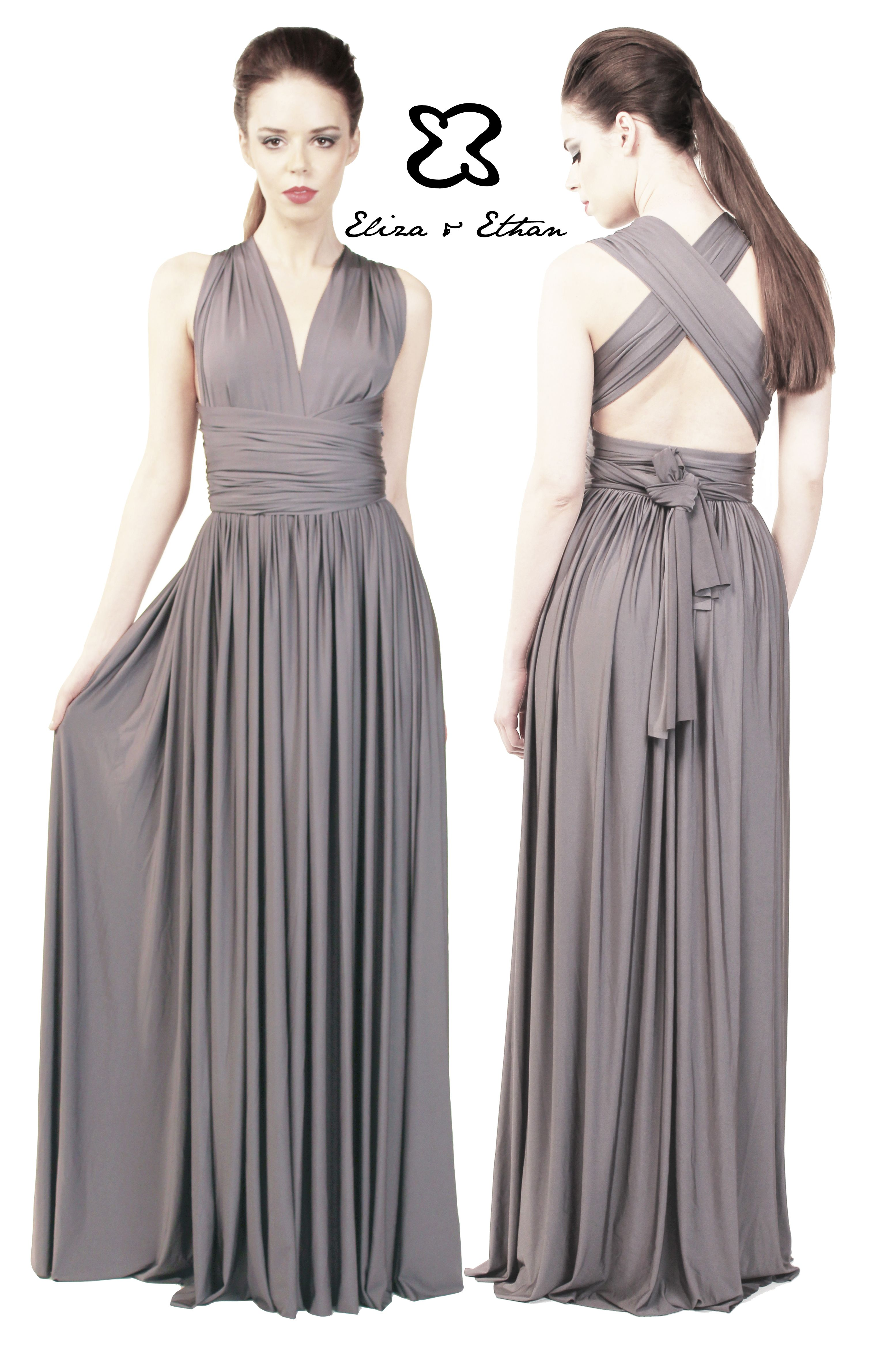 Available from Blush Brides and Grooms in Poulton 01253 932940 Eliza and Ethan - Multiway - Infinity - Bridesmaids Dresses - OneSize - Maxi MultiWrap Dress Color: Titanium