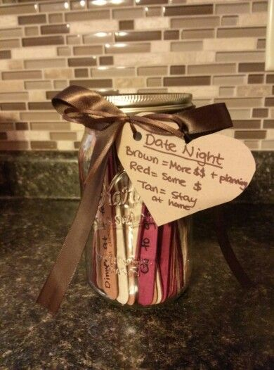Wedding Night Gift For Husband: The 5 Year Anniversary Date Night Jar That I Made For