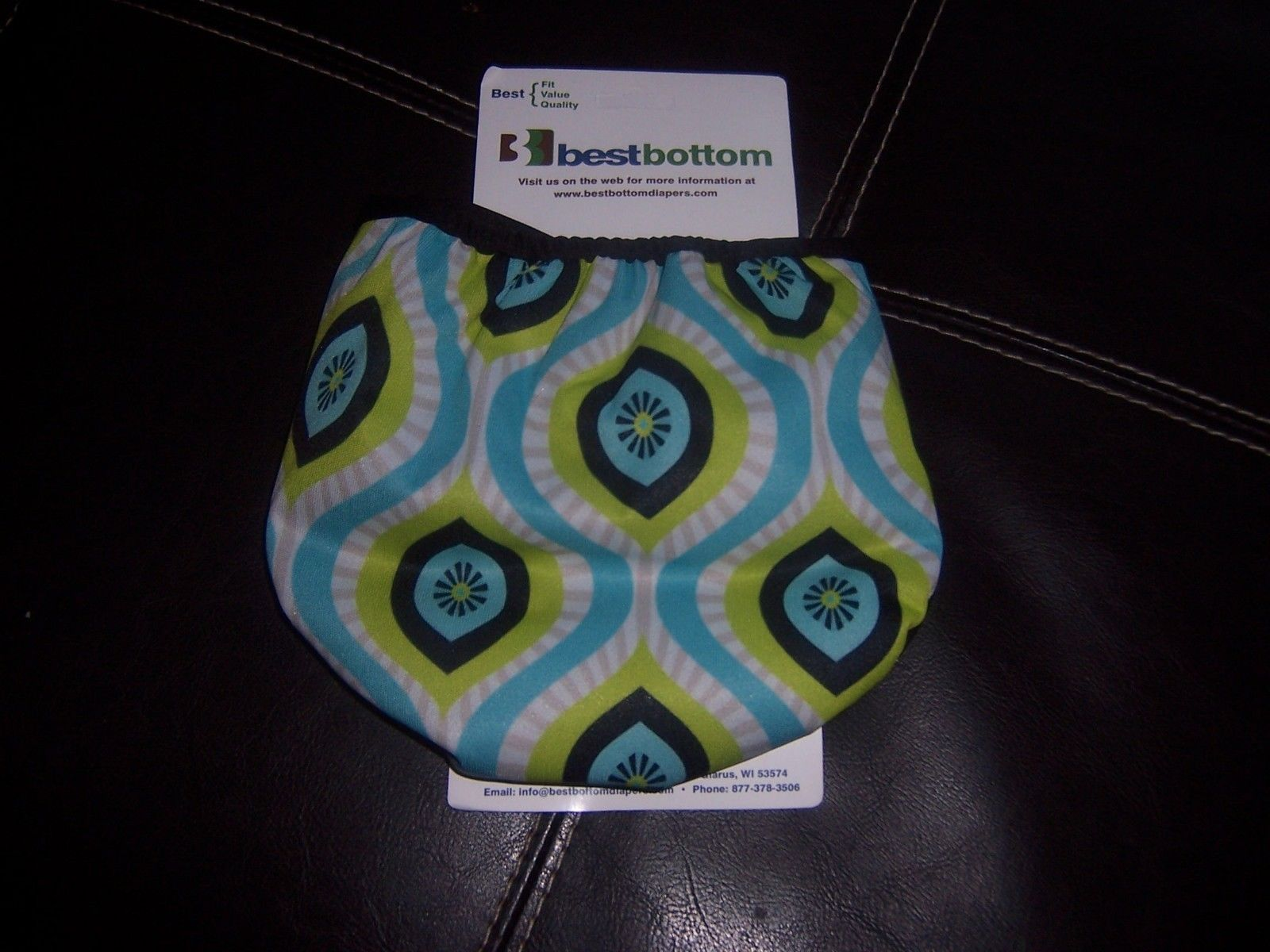 Best Bottom brown  green cover new  cloth diaper