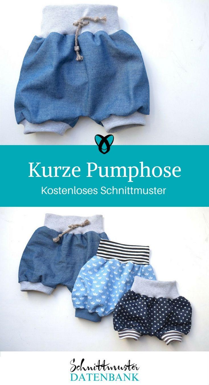 Kurze Pumphose #strickanleitungbaby