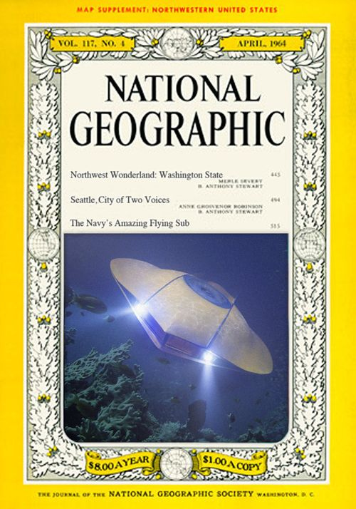 The Flying Sub on the Cover of National Geographic