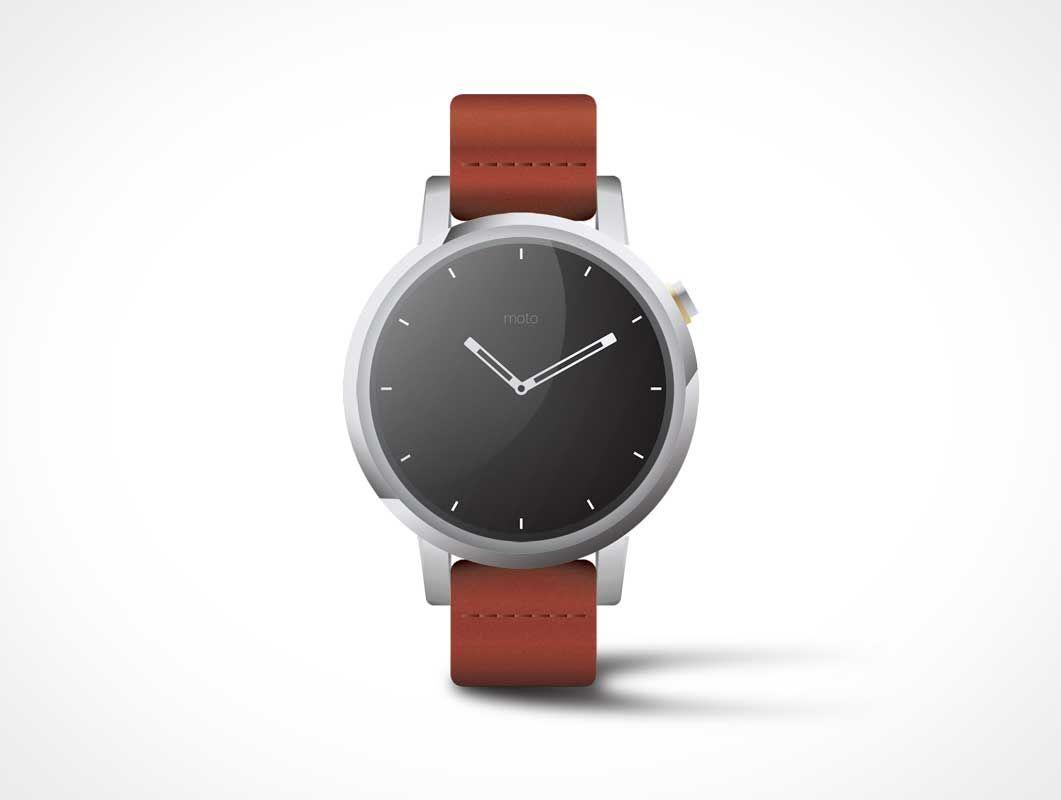 c6f9f408827 Free Moto360 Watch Mockup in PSD  Watch  Mockup  PSD