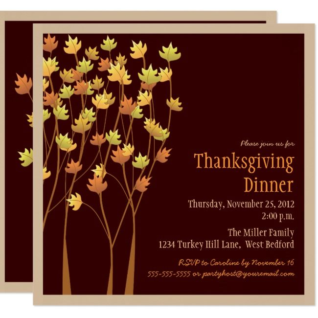 Falling Autumn Leaves Thanksgiving Invitation | Zazzle.com #autumnleavesfalling