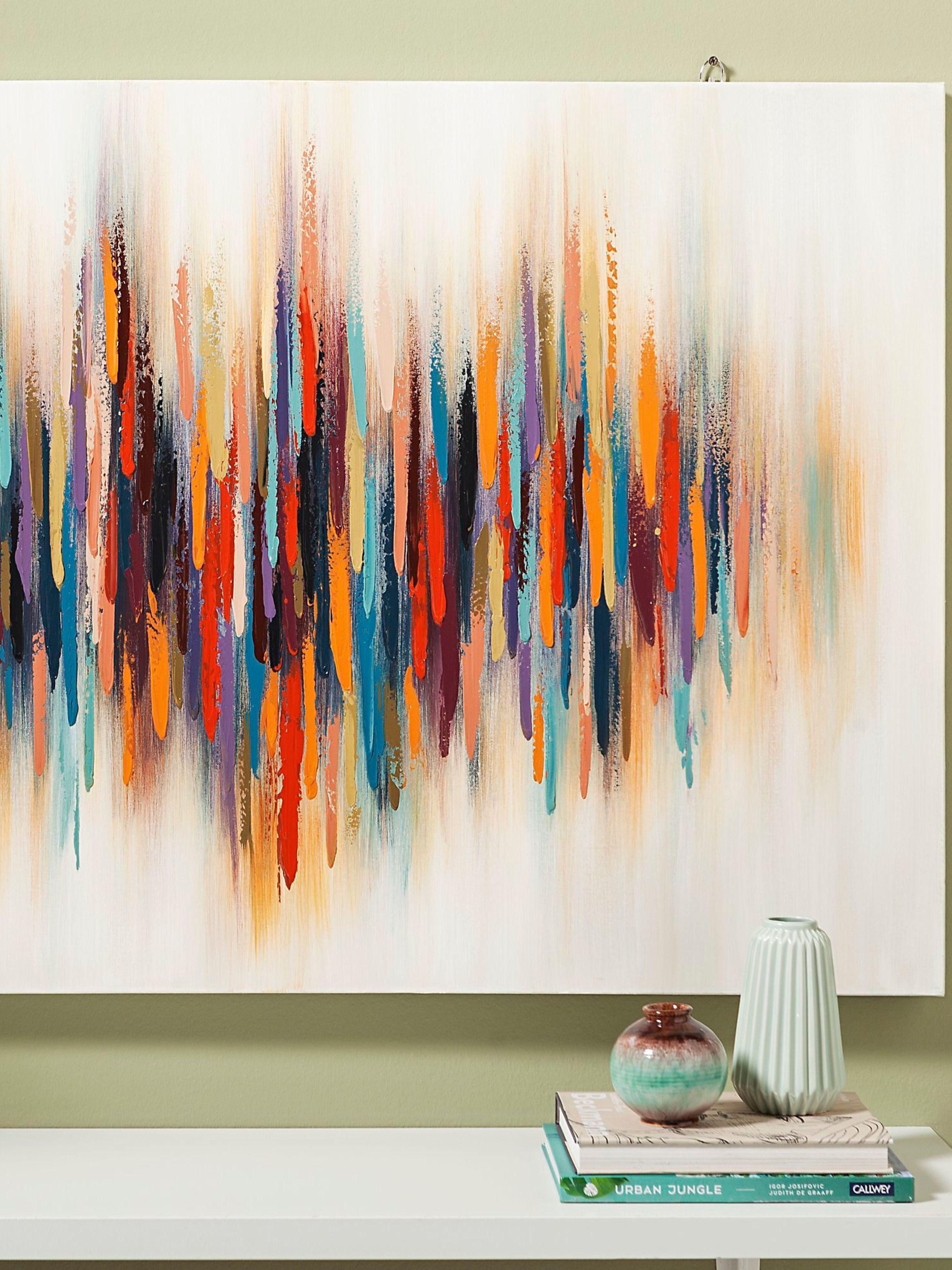 olbild happiness jetzt bei weltbild de bestellen abstrakt idee farbe günstige bilder auf leinwand großes bild
